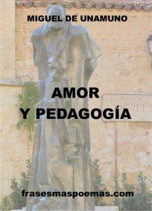 PORTADA LIBRO AMOR Y PEDAGOGIA DE UNAMUNO
