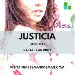 """Justicia /Soneto I"" de Rafael Galindo"