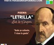 """""""Letrilla"""" de Luis de Góngora"""