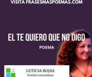 """""""El te quiero que no digo"""" de Leticia Rojas"""