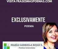 """""""Exclusivamente"""" de María Gabriela Rojas Salcedo"""