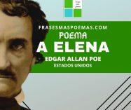 """""""A Elena"""" de Edgar Allan Poe"""