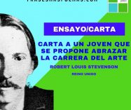 """Carta a un joven que se propone abrazar la carrera del arte"" de Robert Louis Stevenson (Ensayo/Carta)"