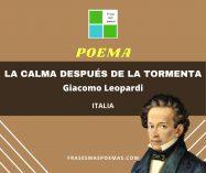 """""""La calma después de la tormenta"""" de Giacomo Leopardi"""
