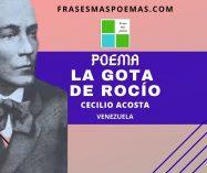 """""""La gota de rocío"""" de Cecilio Acosta (Poema)"""