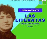 """""""Las literatas"""" de Rosalía de Castro (Ensayo/Carta)"""
