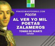 """""""Al ver yo mil poetas zalameros"""" de Tomás de Iriarte (Poema)"""