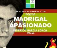 """""""Madrigal apasionado"""" de Federico García Lorca (Poema)"""