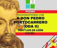 """A don Pedro Portocarrero"" Oda II de Fray Luis de León (Poema)"