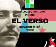 """""""El verso"""" de Ricardo Miró (Poema)"""