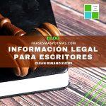 Información legal para escritores