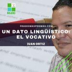 Un dato lingüístico: el vocativo