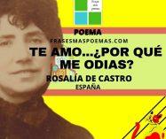 """""""Te amo…¿Por qué me odias?…"""" de Rosalía de Castro (Poema)"""