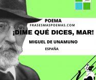 """""""¡Dime qué dices, mar!"""" de Miguel de Unamuno (Poema)"""